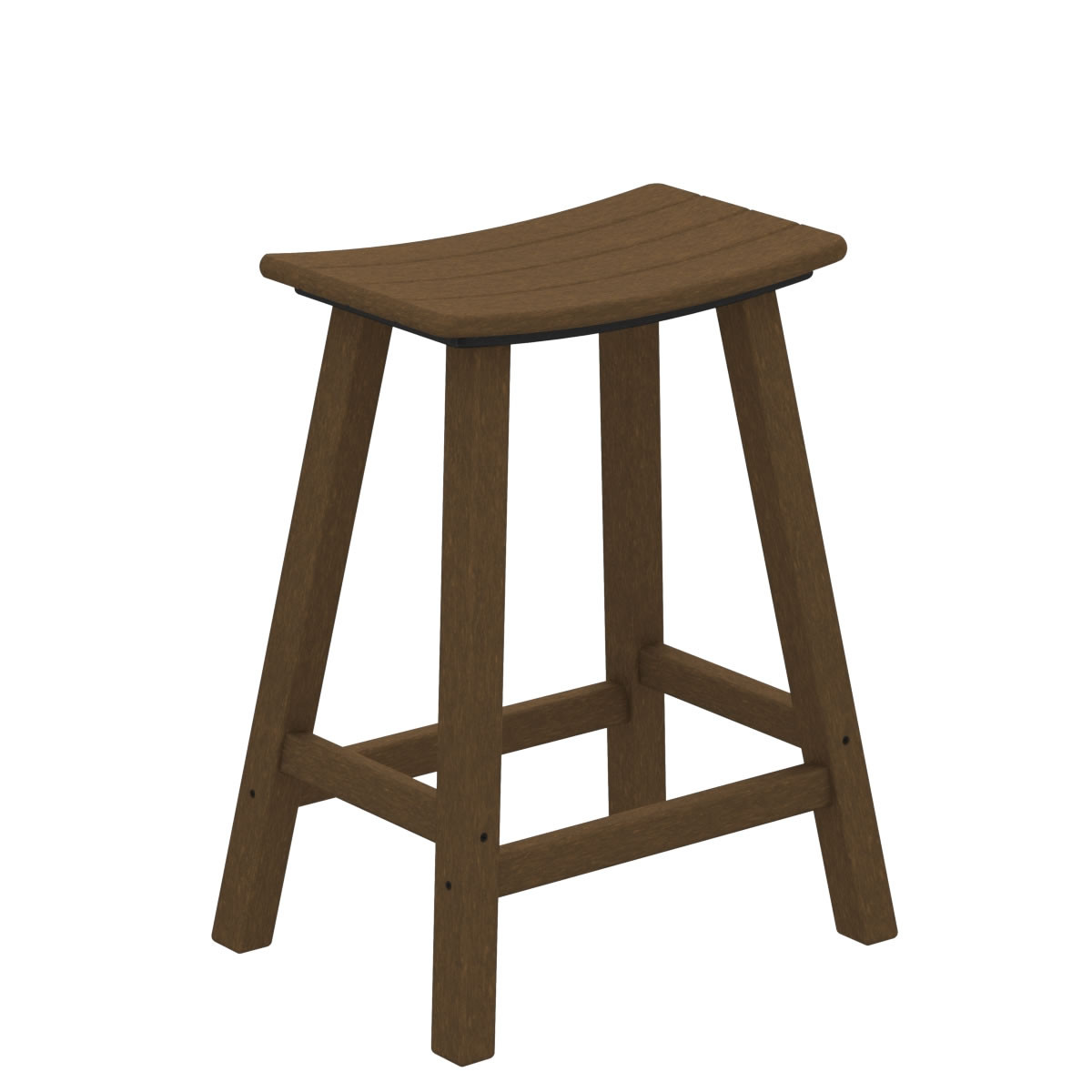 POLYWOOD Traditional 24 In Saddle Bar Stool Traditional Garden POLYWOOD Outdoor Furniture