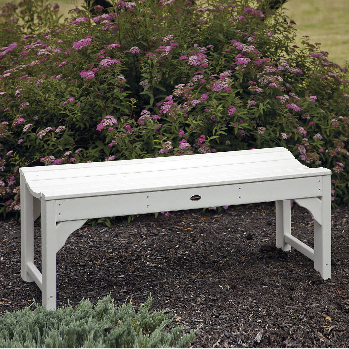 POLYWOOD Traditional Garden 48 In Backless Bench