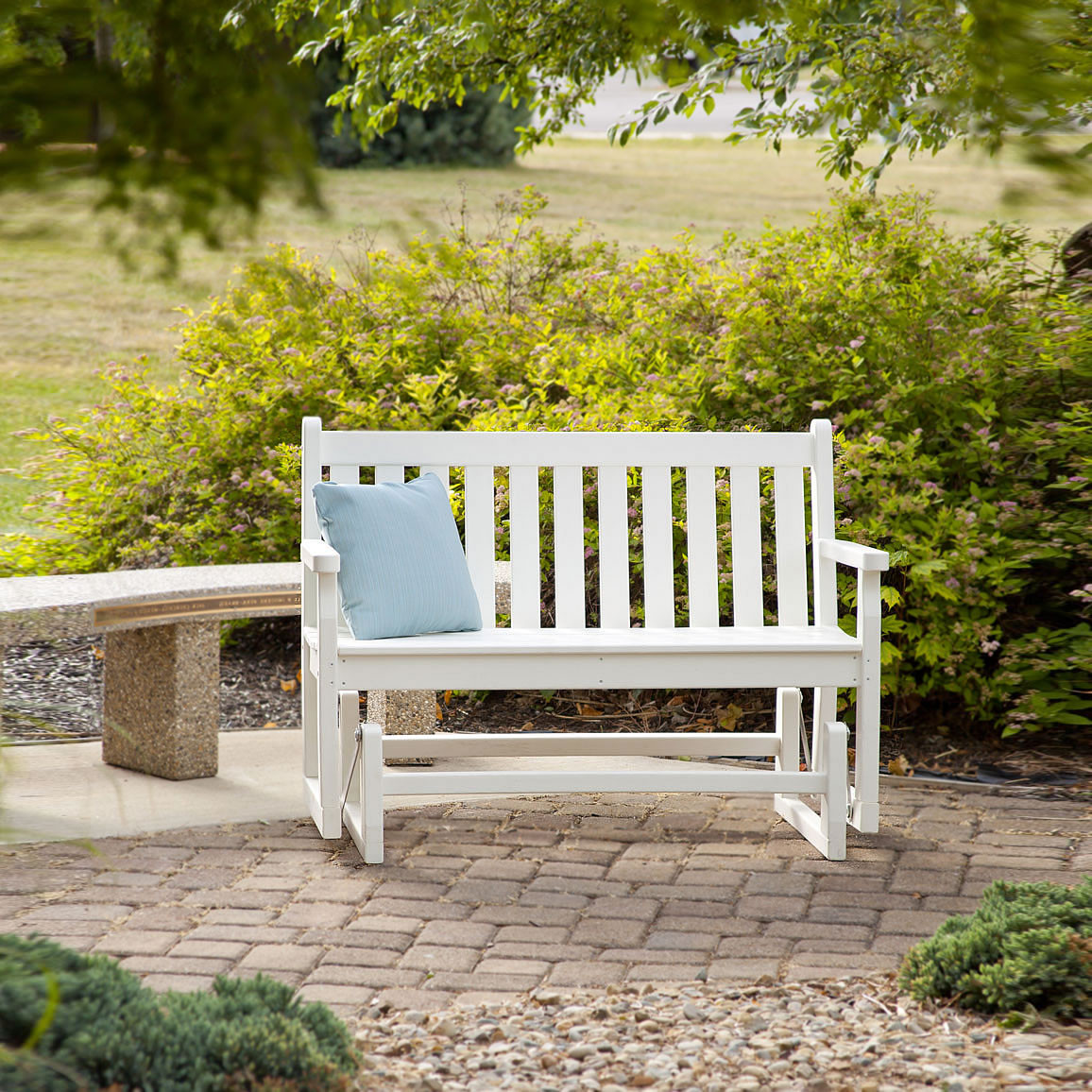 polywood traditional garden 48 in glider - Garden Furniture Traditional