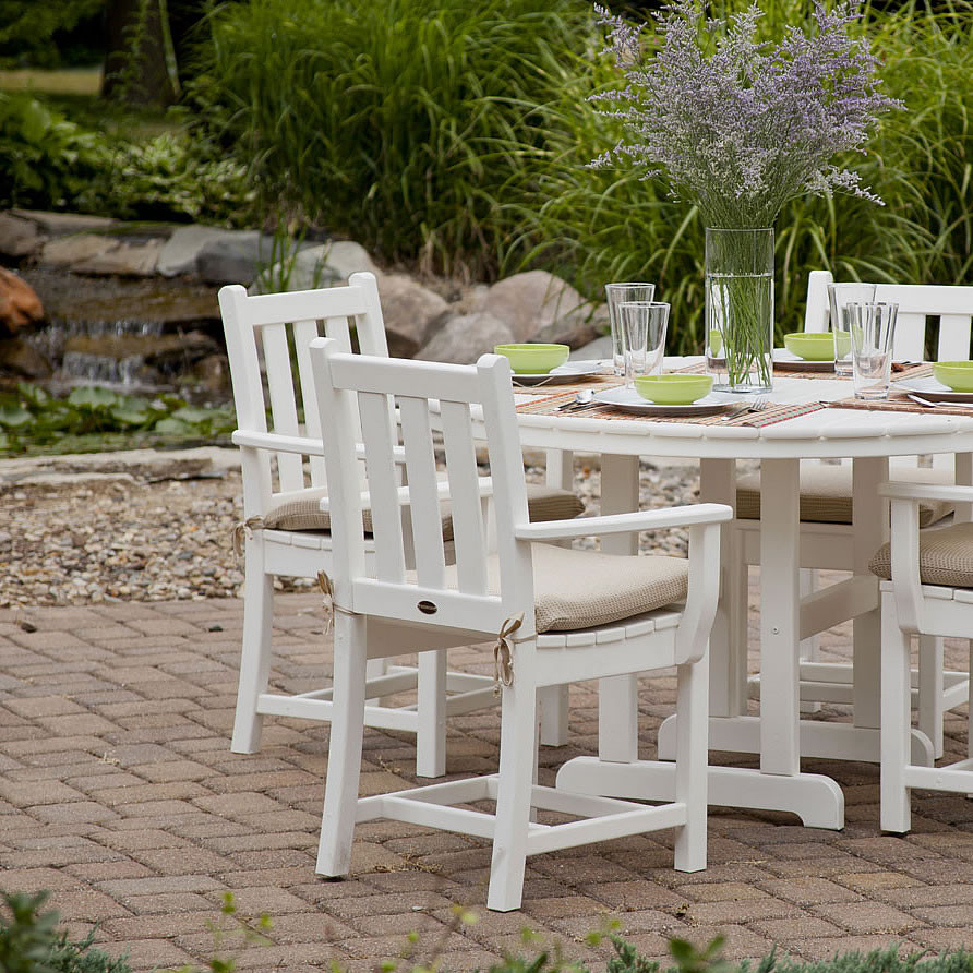 polywood traditional garden dining arm chair - Garden Furniture Traditional