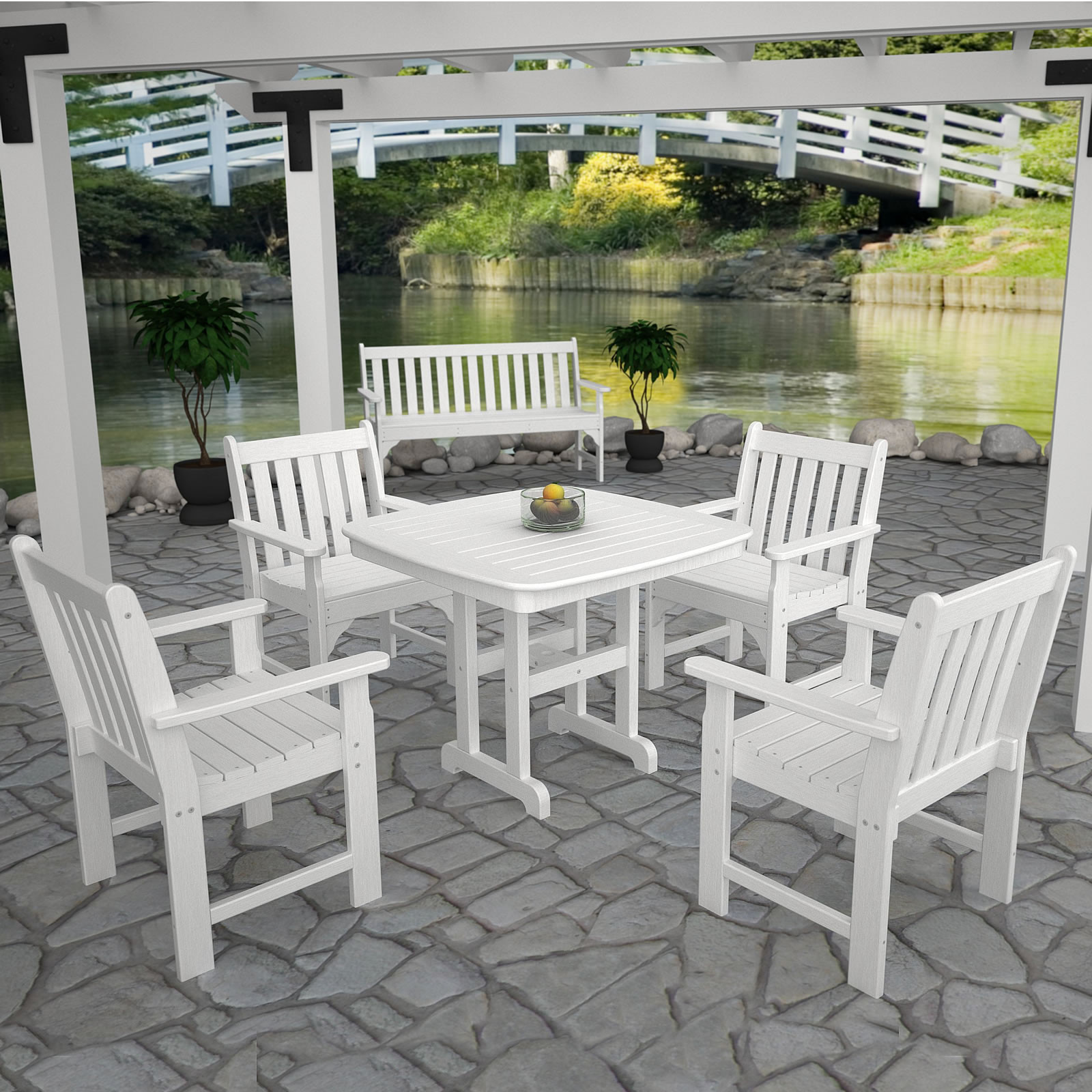 Giardino Collection Outdoor Dining: POLYWOOD® Vineyard Garden Dining Set