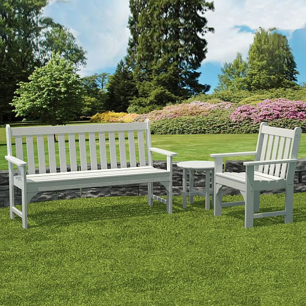 polywood htm patio chipbench pwi furniture outdoor garden recycled rockford rkcb chip bench