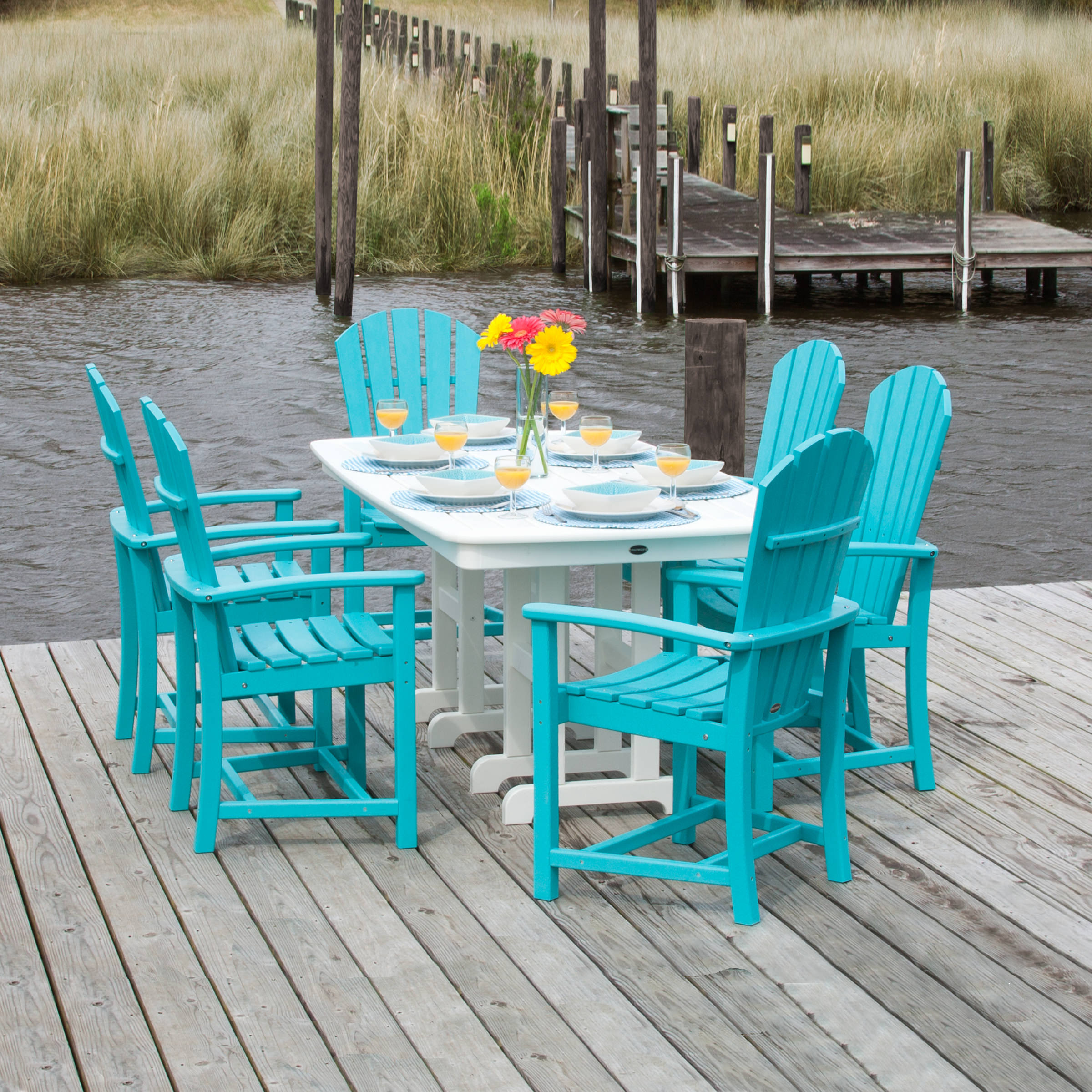 POLYWOOD Palm Coast 7 Piece Dining Set