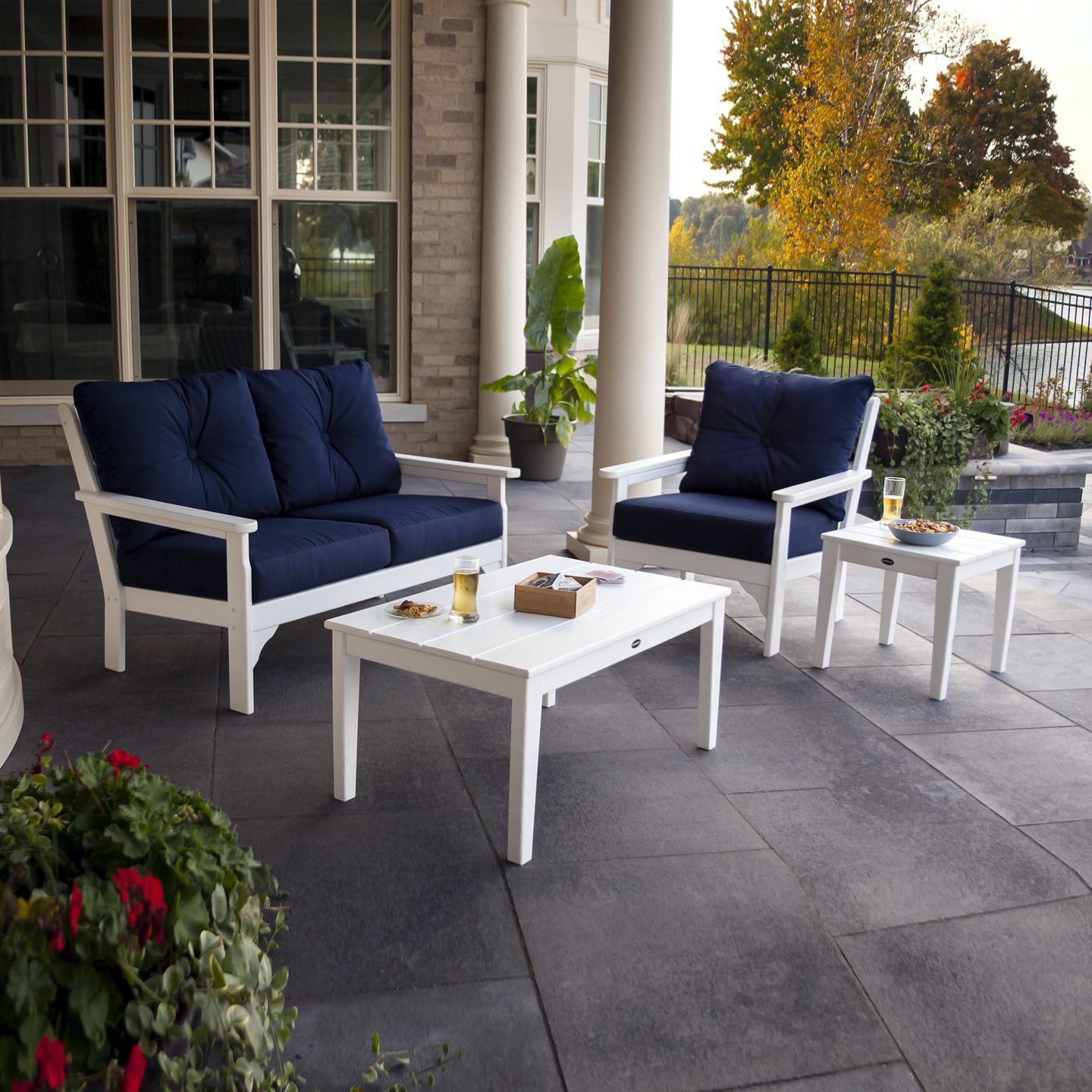 POLYWOOD® Vineyard 4-Piece Deep Seating Set