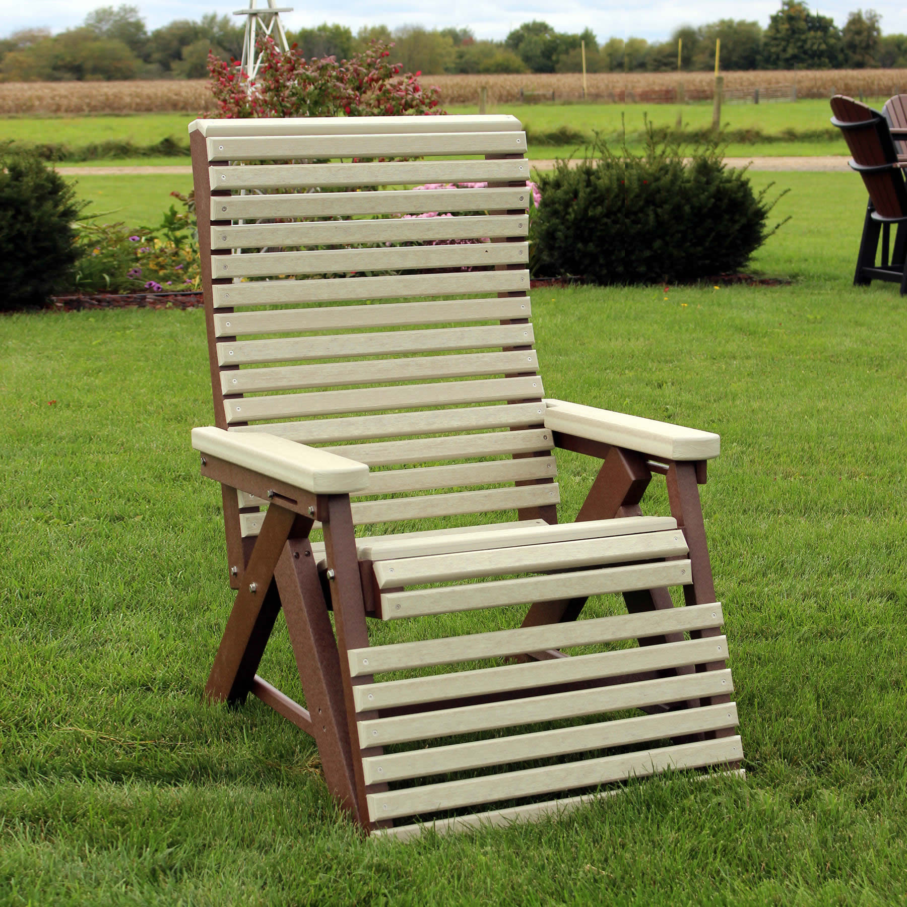 Amish Poly Rollback Reclining Chair