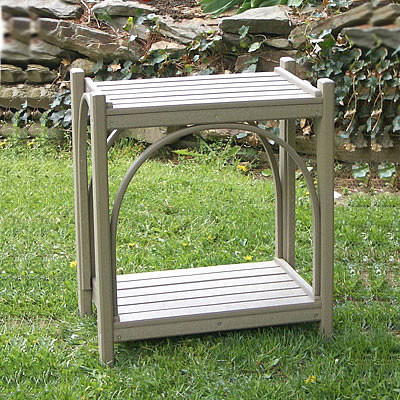 Recycled Poly Lumber Bent Accent Table