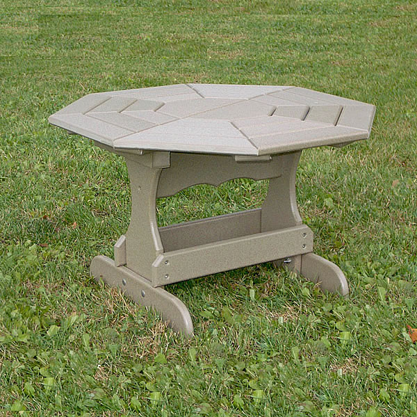 Recycled Poly Lumber Octagon Coffee Table