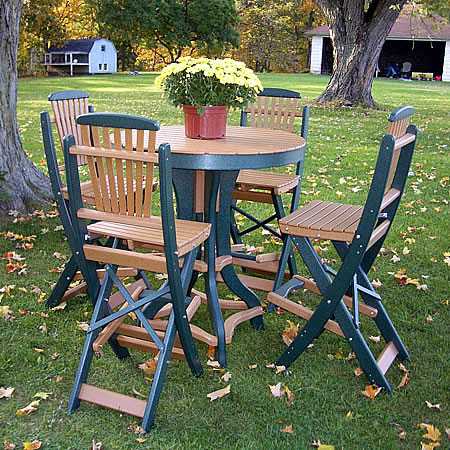 Recycled Poly Pub Table with Chairs