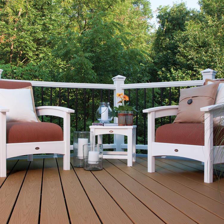 Trex Outdoor Furniture Rockport 18 in Club Side Table