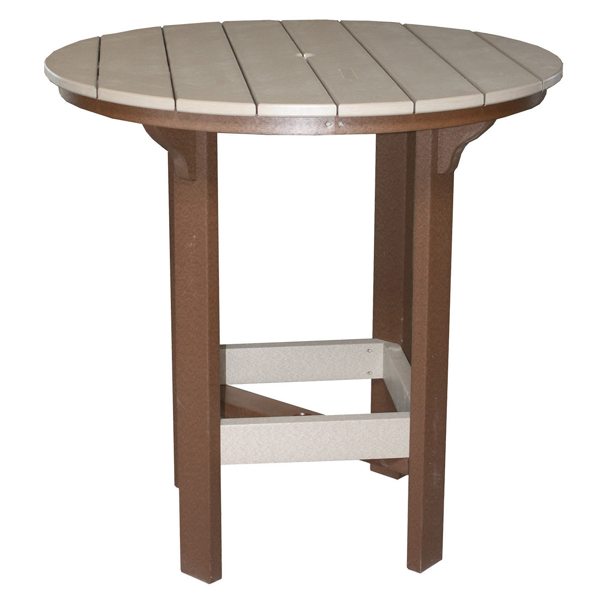 Amish Poly 42in Round Bar Table