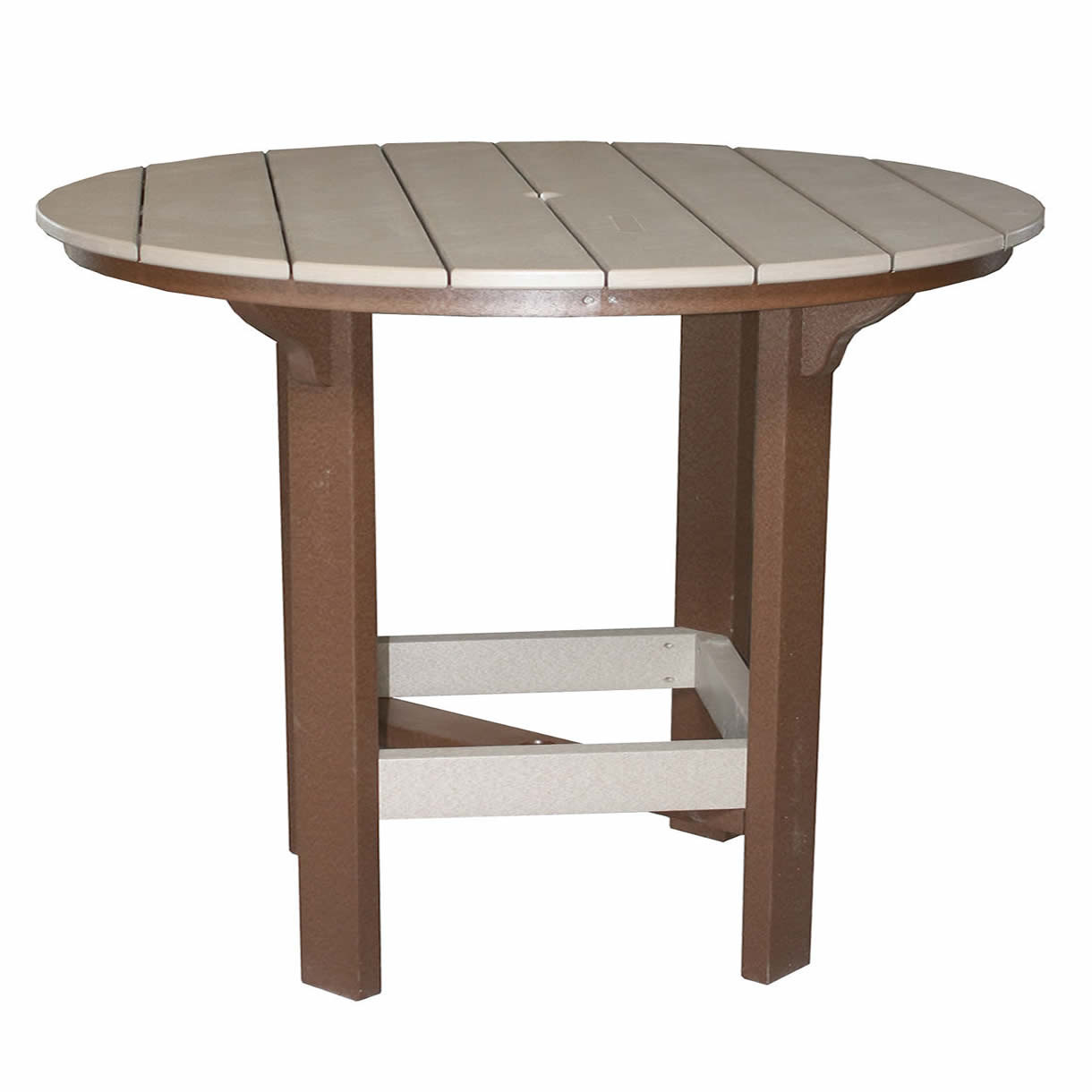 Amish Poly 60in Round Bar Table
