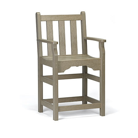 Siesta Recycled Poly Lumber Bistro Classic Captains Chair