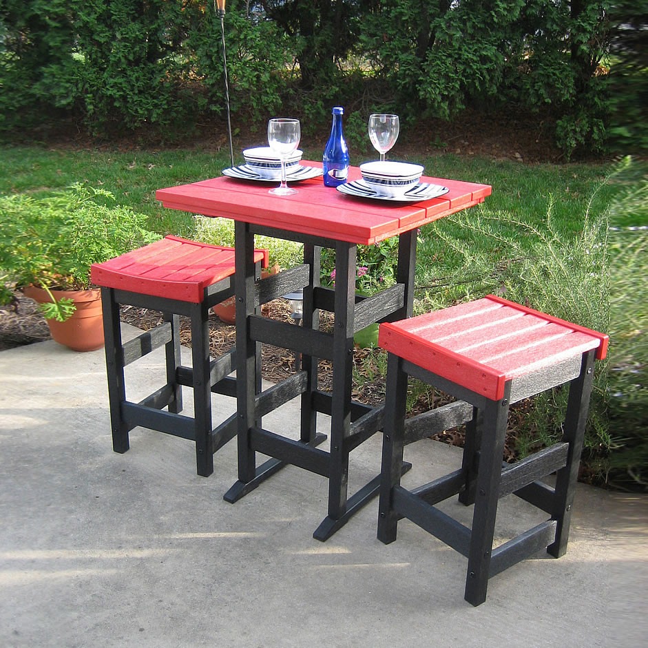 Siesta Recycled Poly Lumber Bistro Set