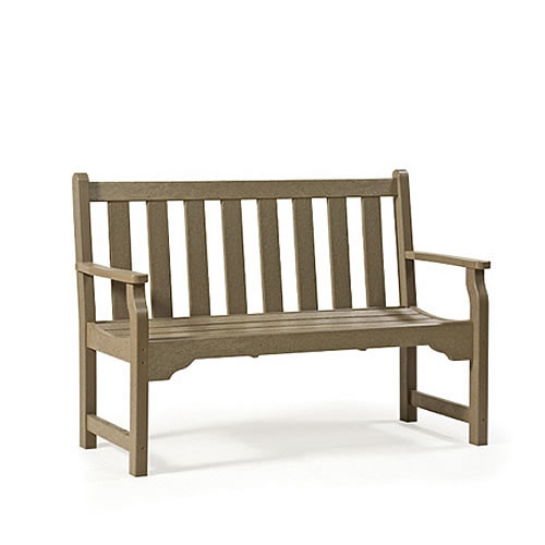 Siesta Recycled Poly Lumber Classic Garden Bench
