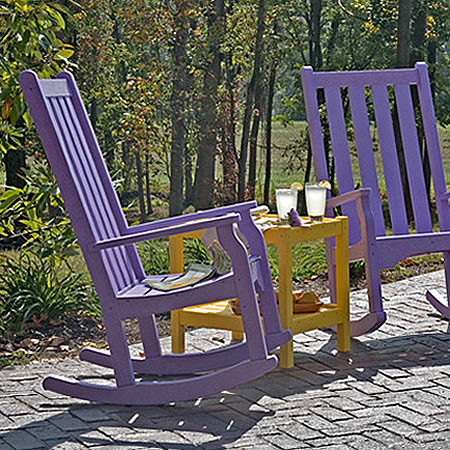Siesta Recycled Poly Lumber Classic Highback Rocking Chair