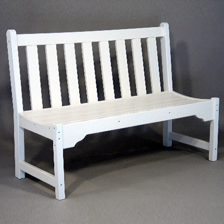 Siesta Recycled Poly Lumber Classic Park Bench