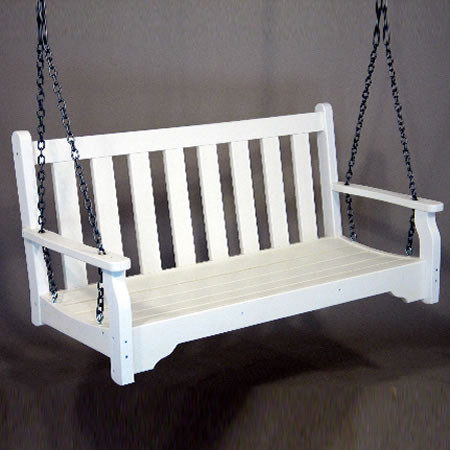 Siesta Recycled Poly Lumber Classic Swinging Bench