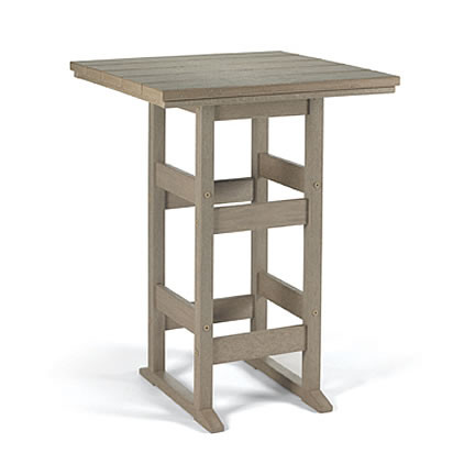 Siesta Recycled Poly Lumber Oblong Bistro Table
