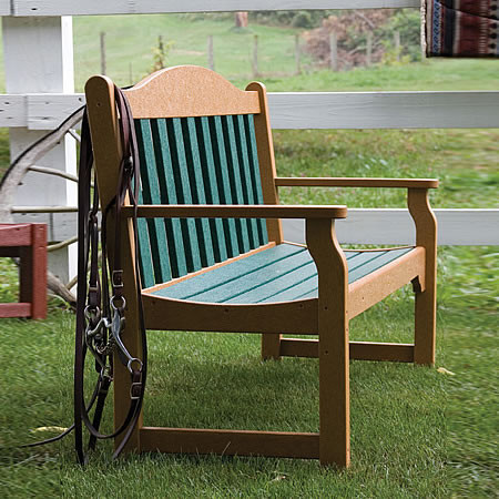 Siesta Recycled Poly Lumber Quest Garden Bench