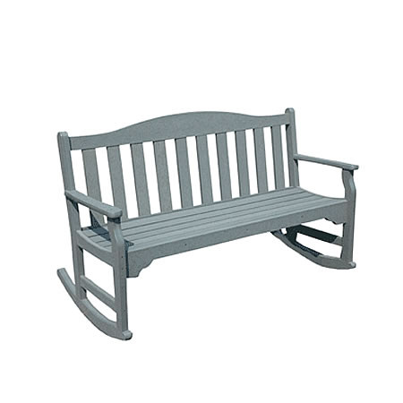Siesta Recycled Poly Lumber Quest Rocking Bench