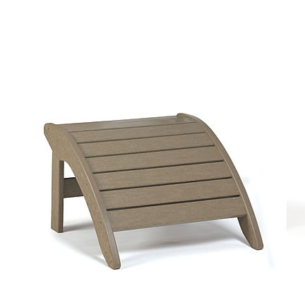 Siesta Recycled Poly Lumber Wave Adirondack Ottoman