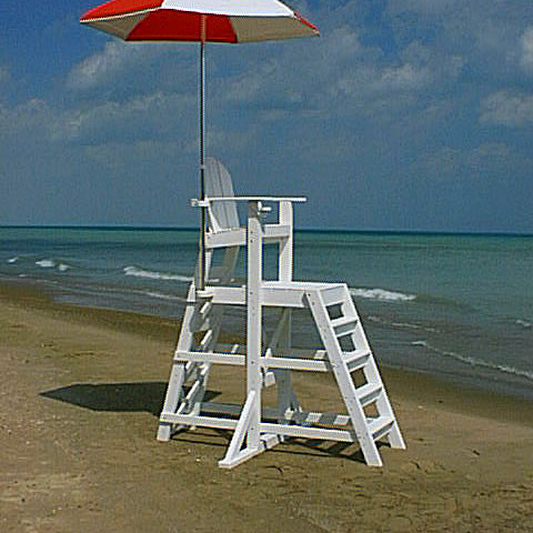 Perfect Tailwind TLG535 Tall Officials/Lifeguard Chair   With Front Ladder