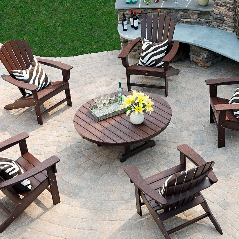 Beau Trex® Outdoor Furniture Cape Cod 48 In Round Conversation Table