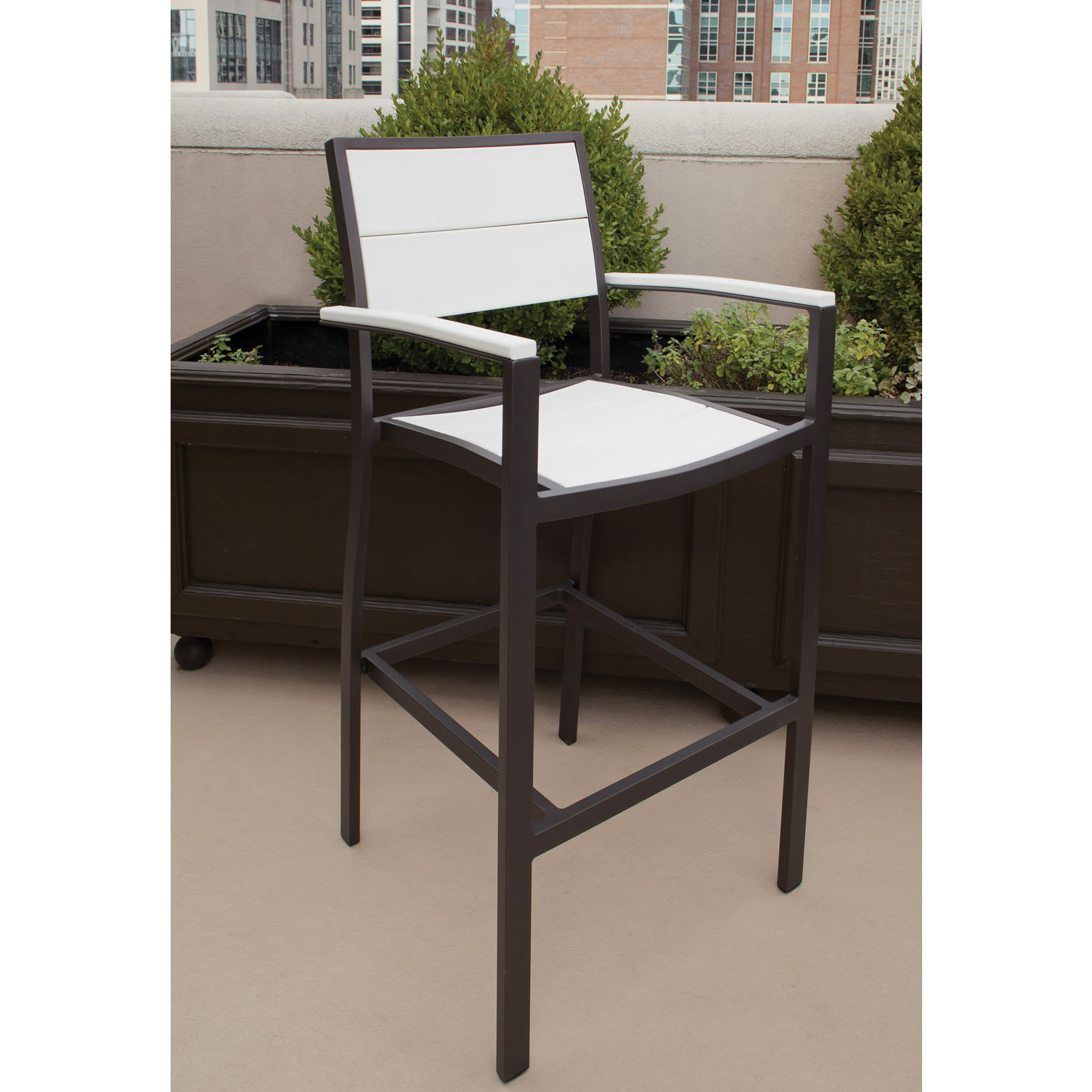 Trex® Outdoor Furniture Surf City Bar Arm Chair