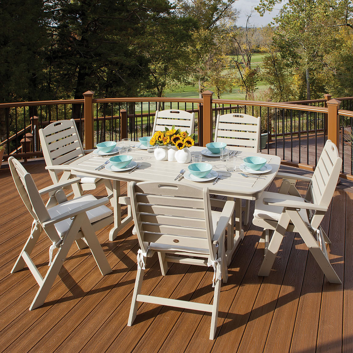 Trex Outdoor Furniture Yacht Club Highback 7 Piece Dining Set