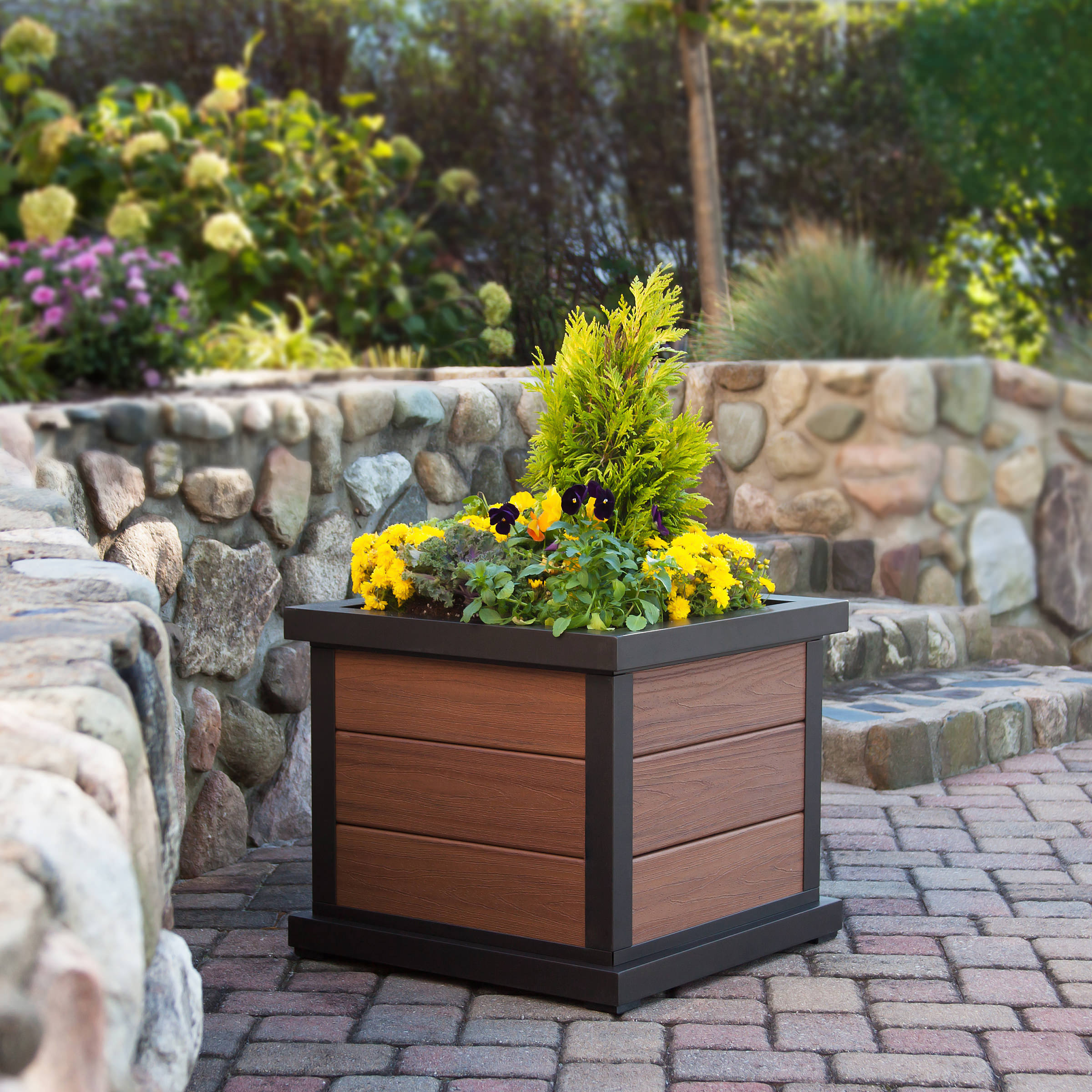 Trex® Outdoor Furniture Cube 24 in Planter 3-Board