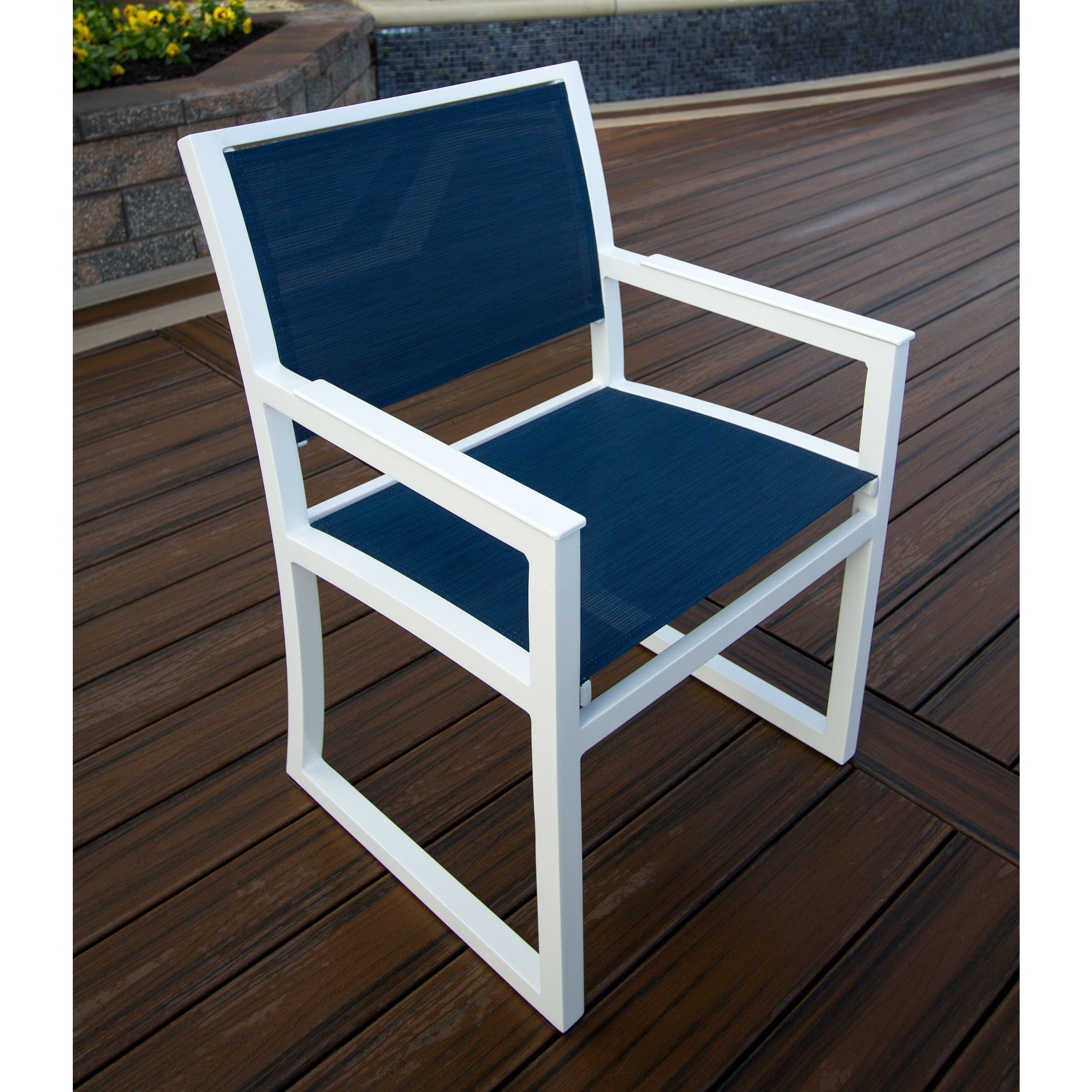 Trex Outdoor Furniture Cube Dining Arm Chair