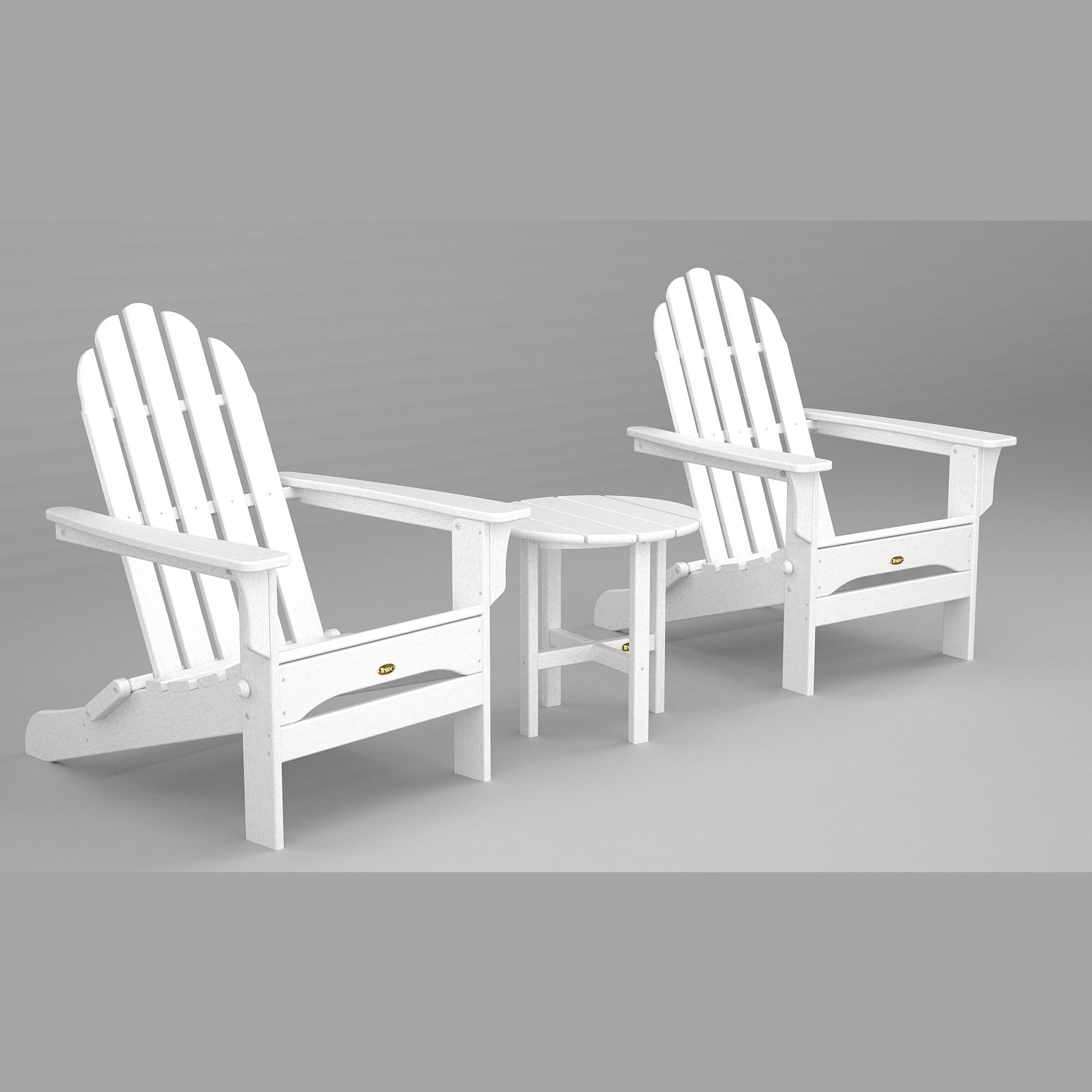 Trex® Outdoor Furniture Cape Cod Folding Adirondack Seating Set