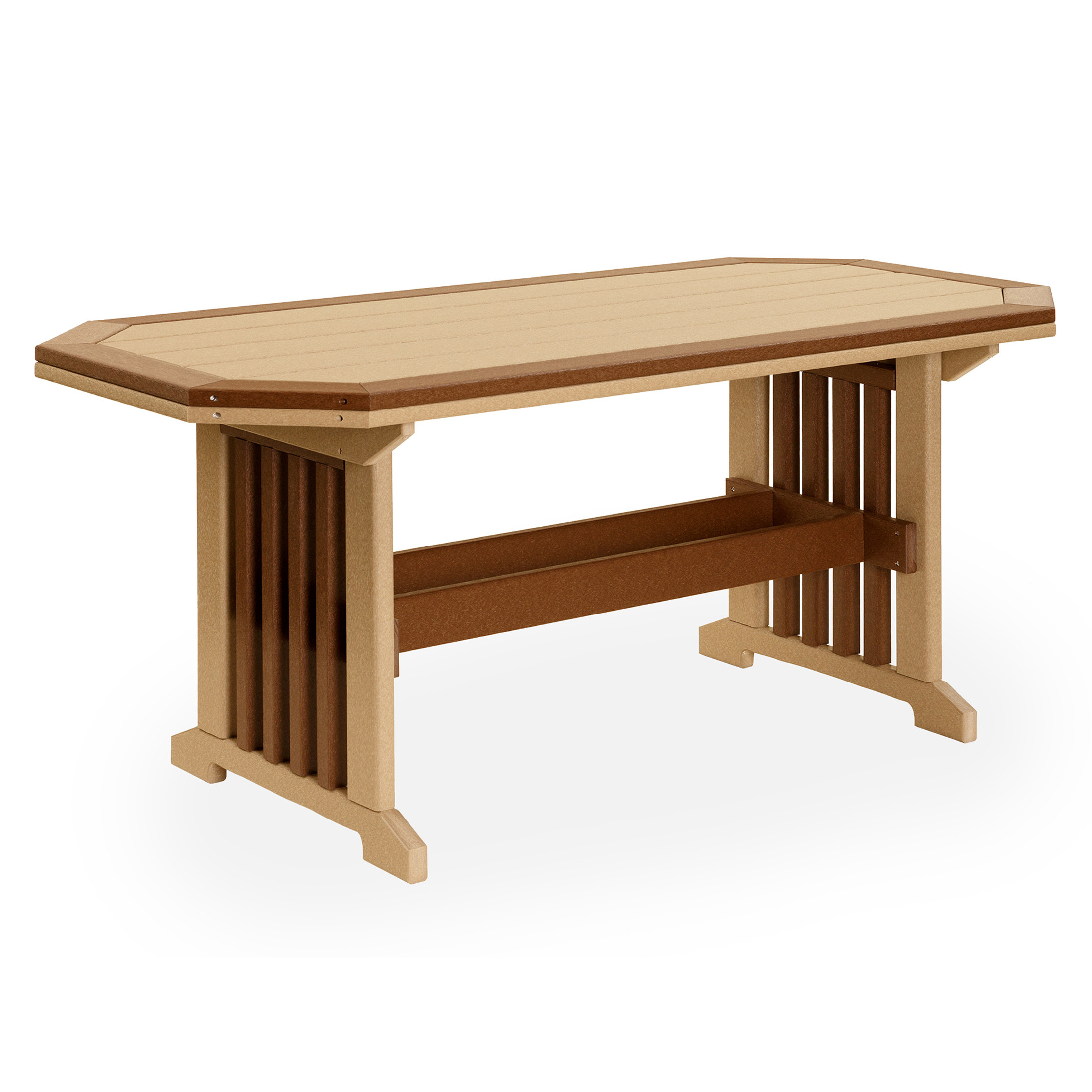Amish Poly Wood 3 x 4 Mission Table w/Border
