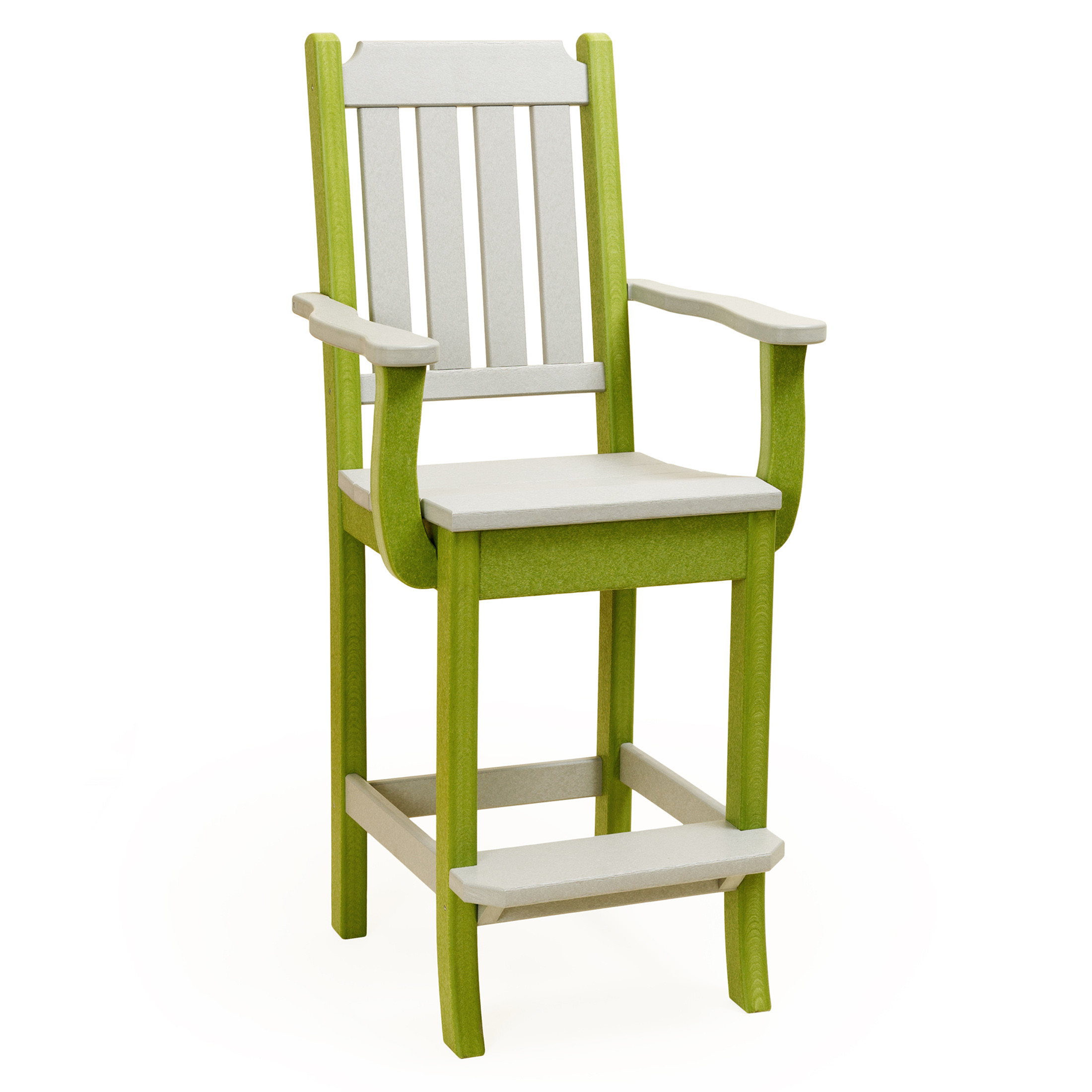 Amish Poly Wood Keystone Bar Chair w/arms