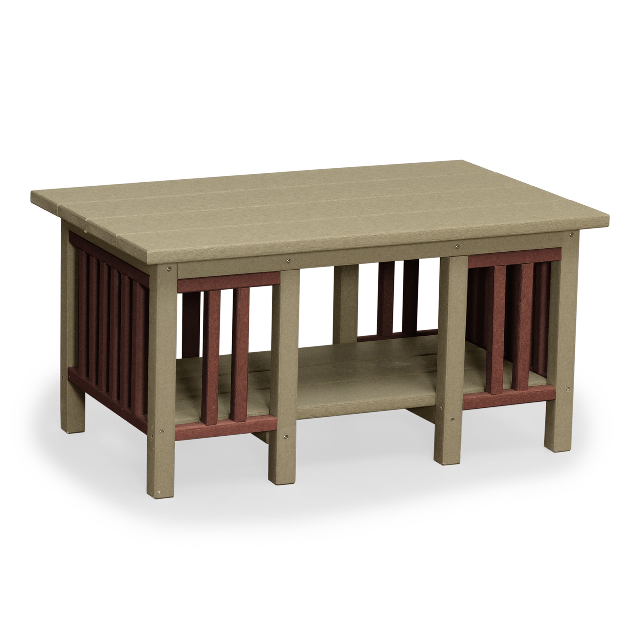 Amish Poly Wood Mission Coffee Table
