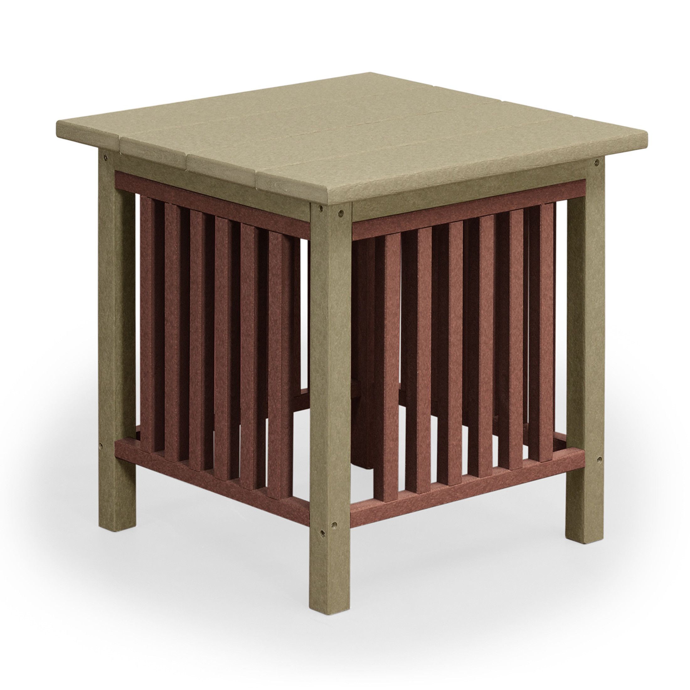 Amish Poly Wood Mission End Table