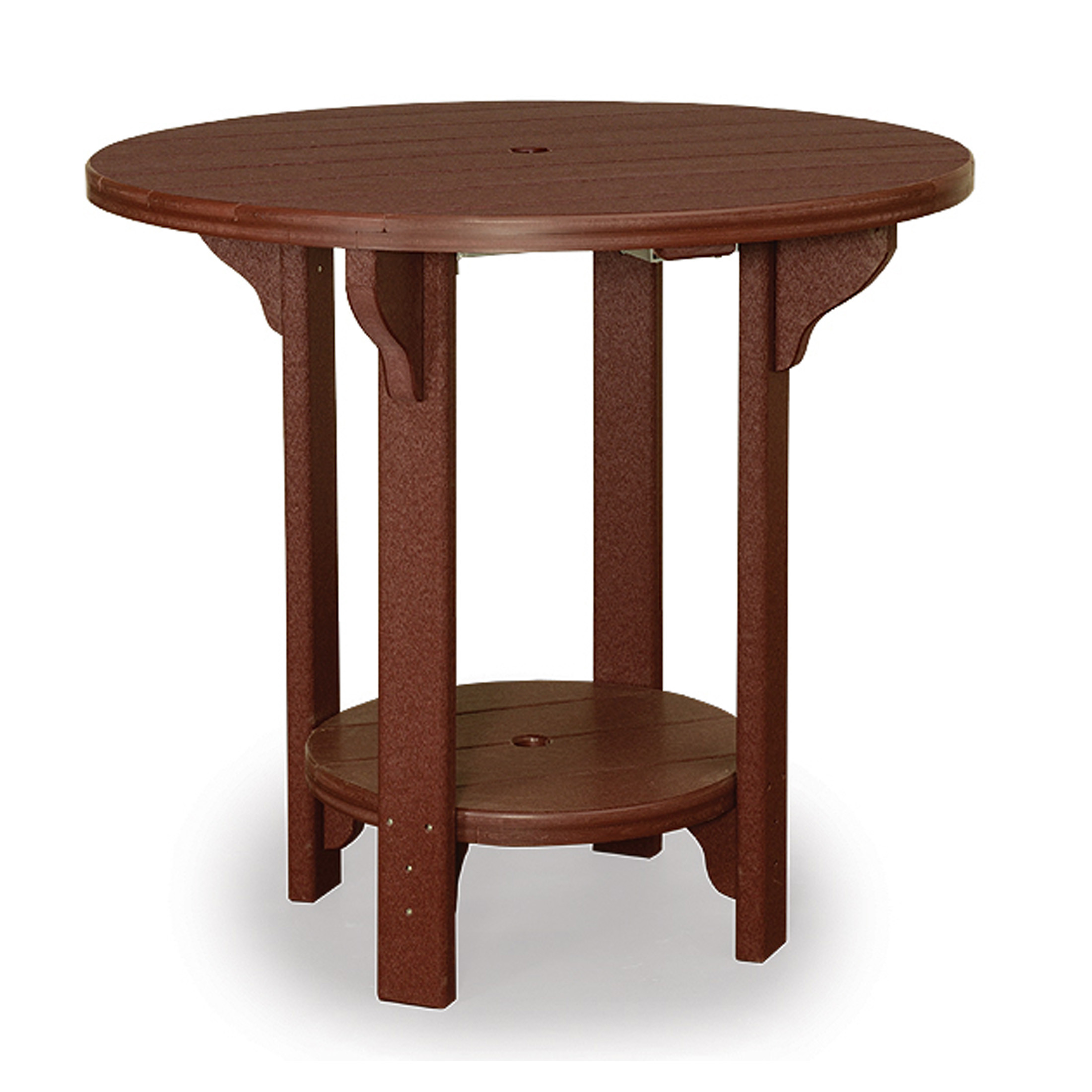 Amish Poly Wood 42in Round Bar Table