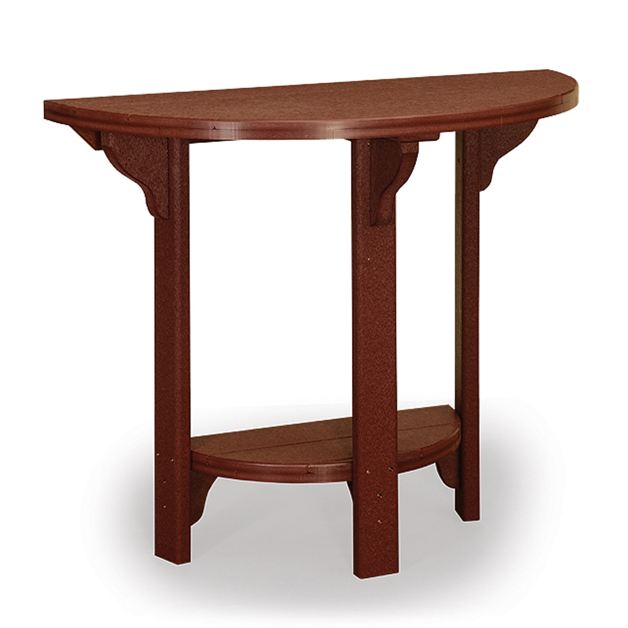 Amish Poly 46in Half Round Bar Table