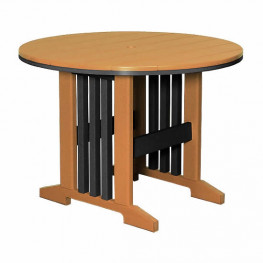 Amish Poly Keystone 48in Round Dining Table