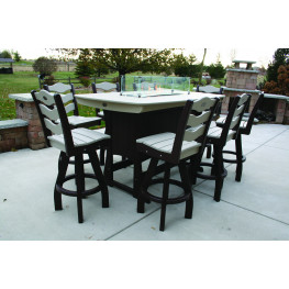 """Perfect Choice 72"""" Bar Height Fire Table"""