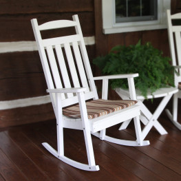 A&L Furniture Poly Classic Porch Rocker