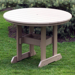 Amish Poly 54in Round Bar Table