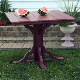 Amish Poly 39in Square Bar Table
