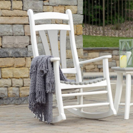 Amish Poly Wood Bordeaux Rocker