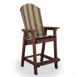 Amish Poly Seat Cushion for Great Bay Bar Chair