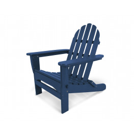 POLYWOOD Classic Folding Adirondack Chair in navy