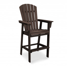 POLYWOOD® Nautical Adirondack Bar Chair