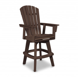 POLYWOOD® Nautical Adirondack Swivel Bar Chair