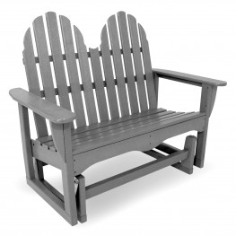 POLYWOOD Classic Adirondack 48 in Glider Bench