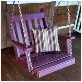 A&L Furniture 2 ft Poly Traditional English Chair Swing